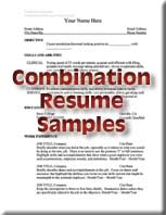 reverse chronological resume samples functional resume samples combination resume sample