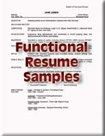 reverse chronological resume samples functional resume samples - Sample Of A Functional Resume