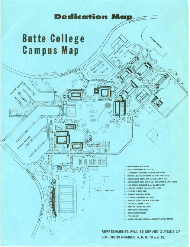 Butte College Map Our History   50th Anniversary   Butte College Butte College Map