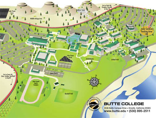 Butte College Campus Map Solar Ribbon Cutting   Public Relations   Butte College