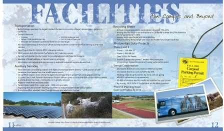 A view of page 7 of the Butte College Sustainability Brochure.
