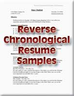 reverse chronological resume samples