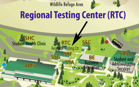 Butte College Campus Map Regional Testing Center